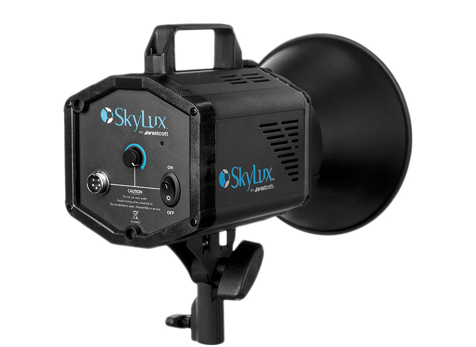 Skylux LED monolight and Rapid Box octagonal softbox kits