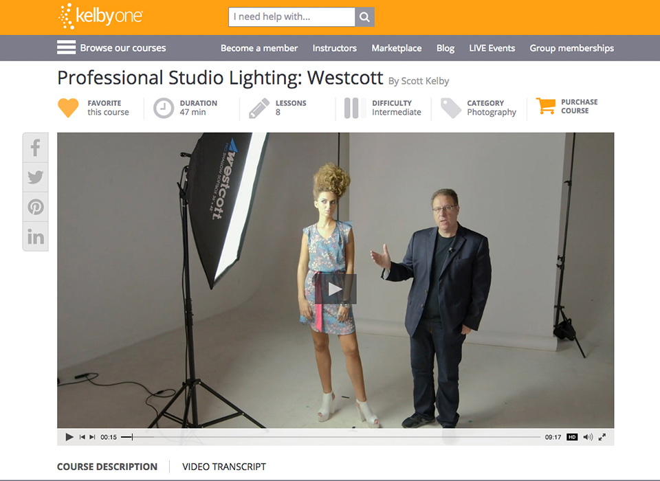 Free KelbyOne photography lighting education with purchase of Spiderlite TD6 Kit 6222