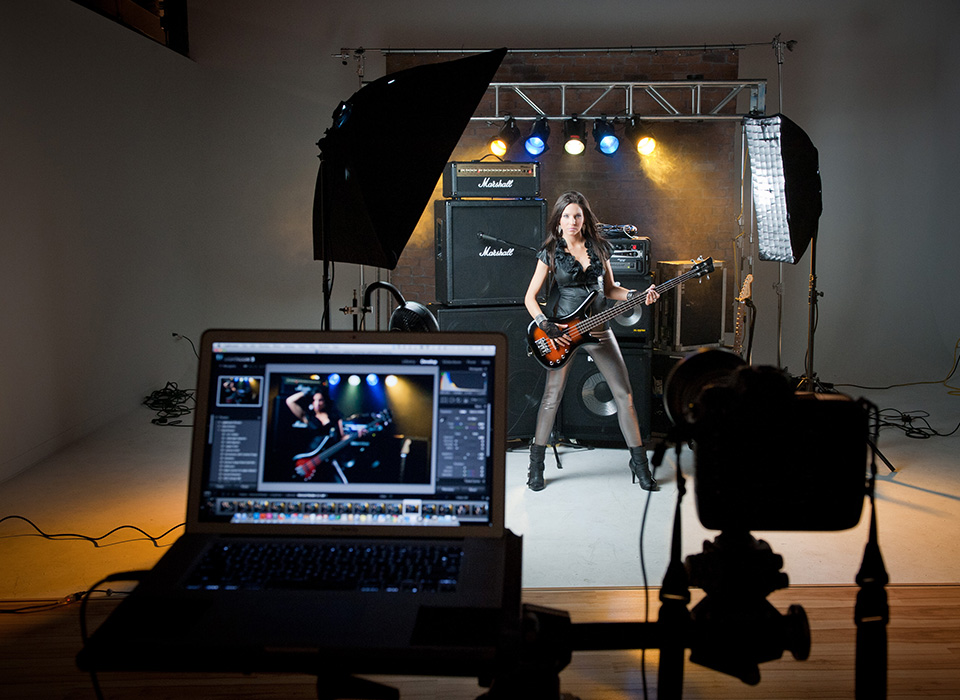 Portrait of singer lit using Spiderlite TD6 Kit by Scott Kelby