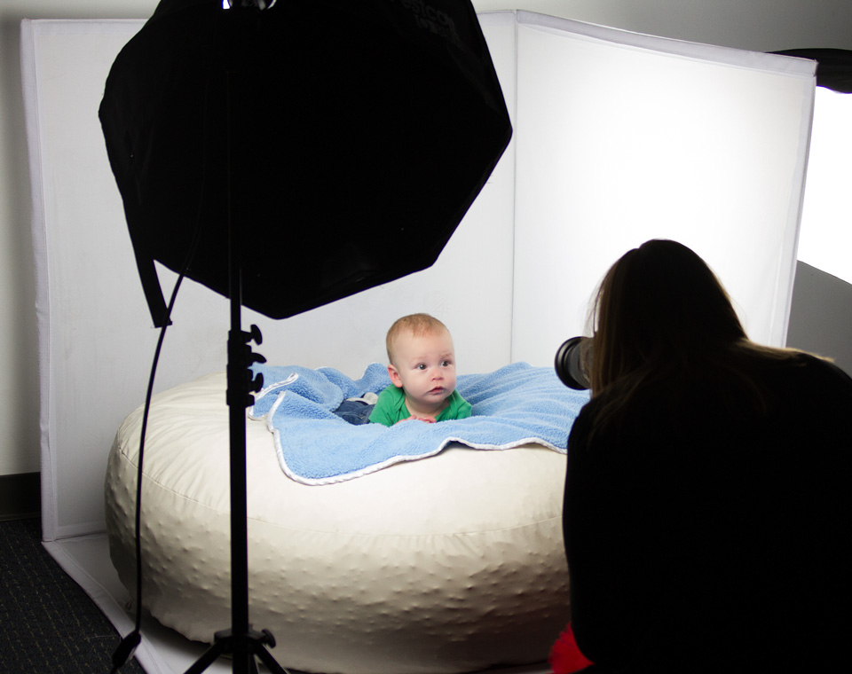 Newborn photo shoot using the uLite continuous light
