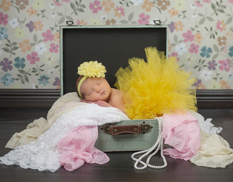 Colorful newborn posing wrap photo prop