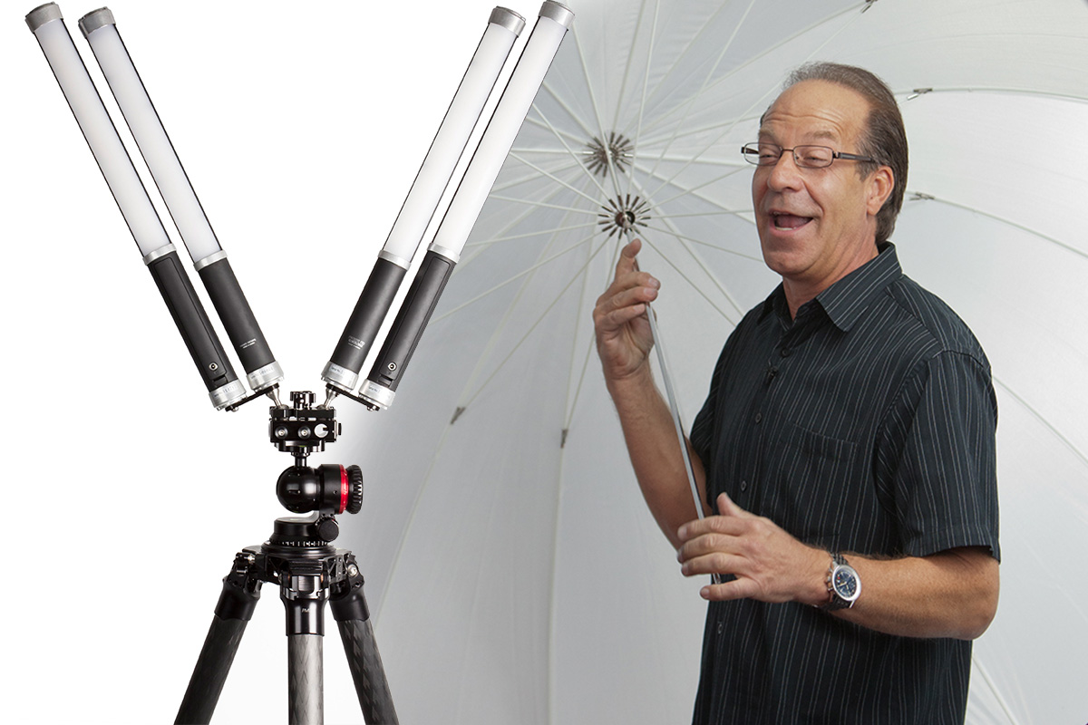 Jim Schmelzer demonstrating the ProMediaGear Ice Light Mount
