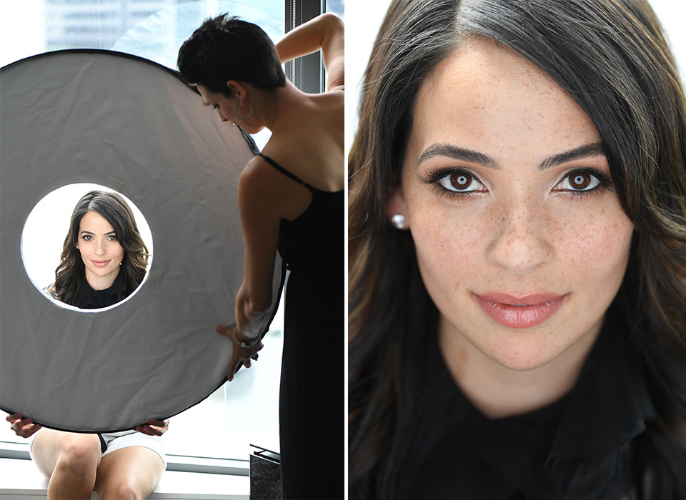 Beauty portrait results after using Omega Reflector 360