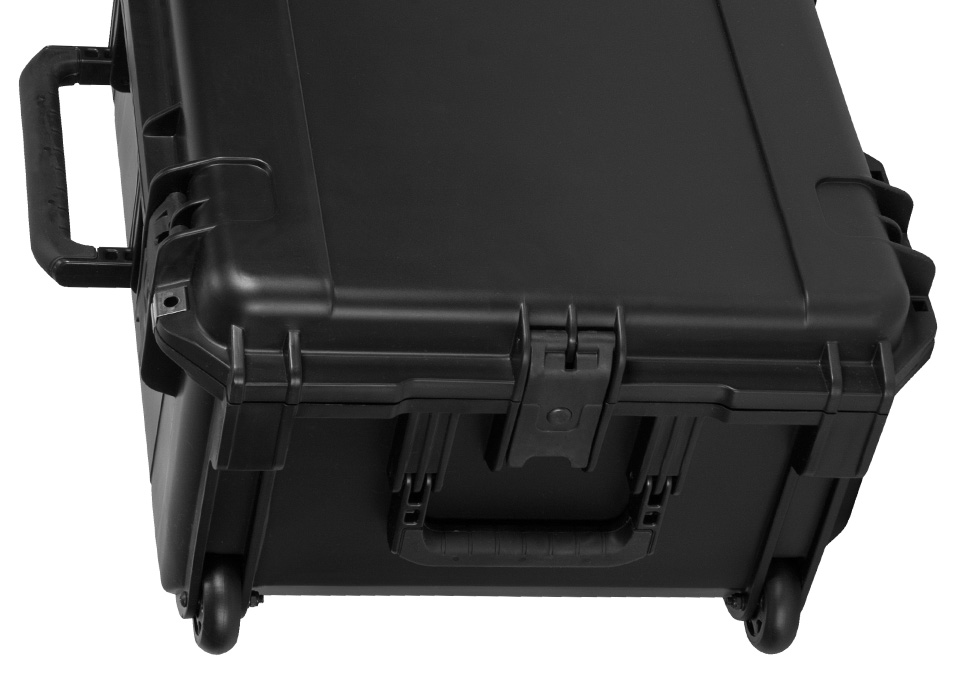 Flex durable hard case exterior with wheels