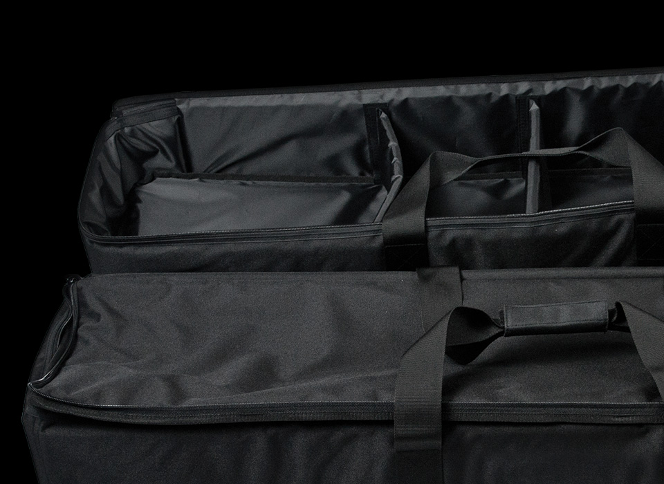 Location carry case interior storage